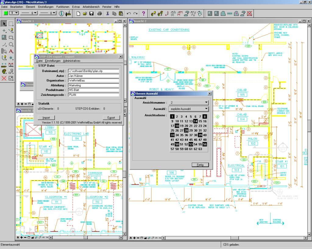 step cds konverter f r microstation 95 se j vom bentley systems inc. Black Bedroom Furniture Sets. Home Design Ideas